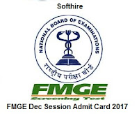 FMGE Dec Session Admit Card
