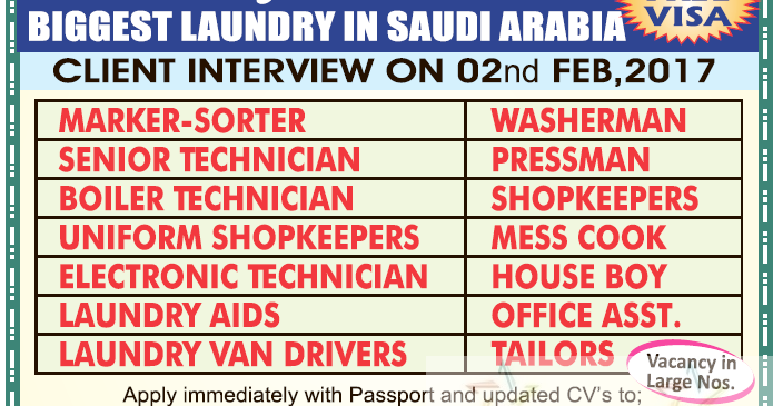 Large Job Opportunities for Saudi Arabia Free Visa - Gulf