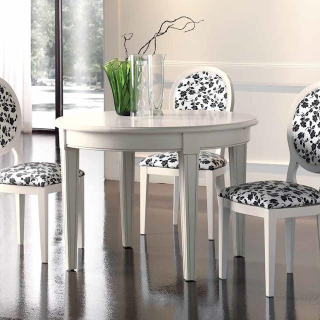 Muebles de comedor 5 mesas de comedor redondas para aprovechar el espacio - Mesa comedor redonda extensible ...