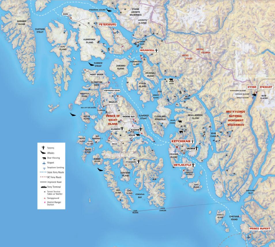 Map Southern Alaska Coastline