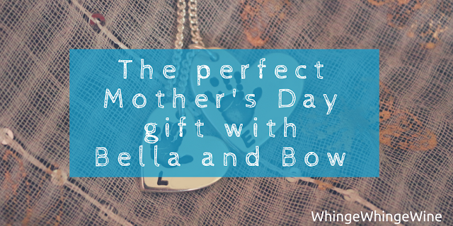 The perfect Mother's Day gift with Bella and Bow personalised handprint silver jewellery necklace review