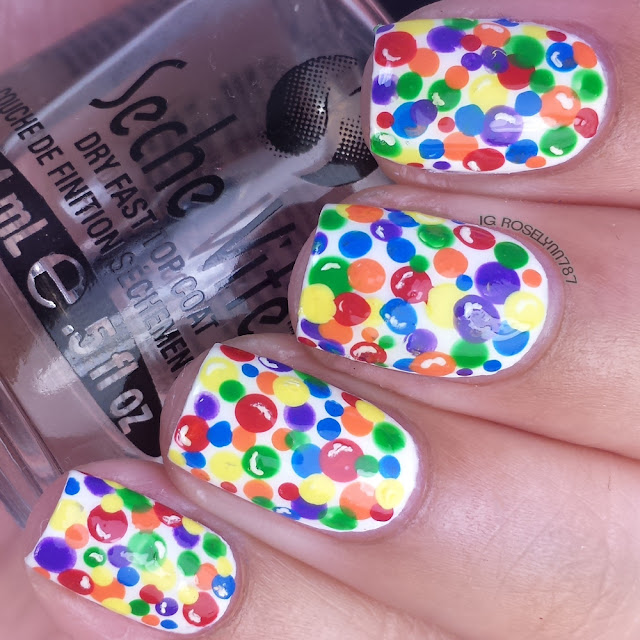 Candy gumball nail art