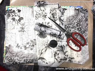 choosing the papers to use on the art journal page