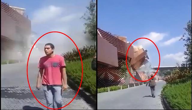 Kemunculan Pria Misterius Ini Membuat Banyak Orang Takut Setelah Insiden Bagunan Runtuh