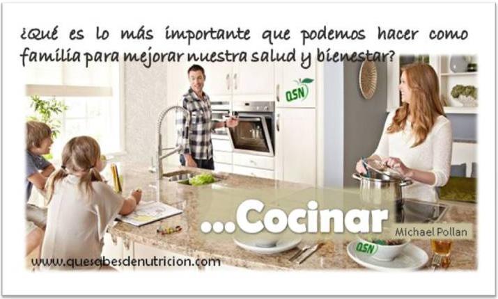 QSN: Cocinar aporta bienestar, une a la familia y genera salud