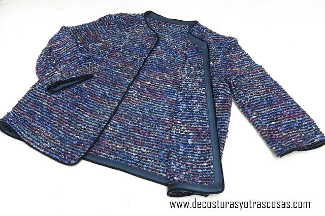 chaqueta tipo chanel sencilla