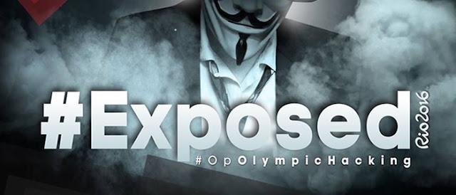 Hackers da Anonymous entram em ação no Rio 2016 e derrubam sites e expõe dados.