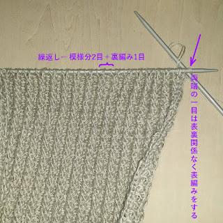 ベビーケーブル①の編み方, how to knit the baby cable patern, 绳子的针织方法