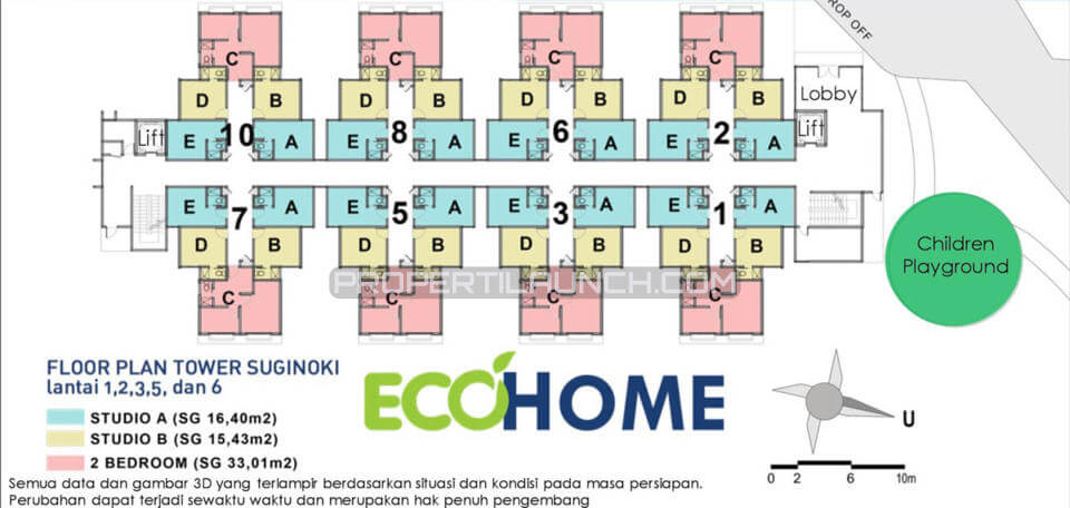 Site Plan EcoHome CitraRaya Tower A