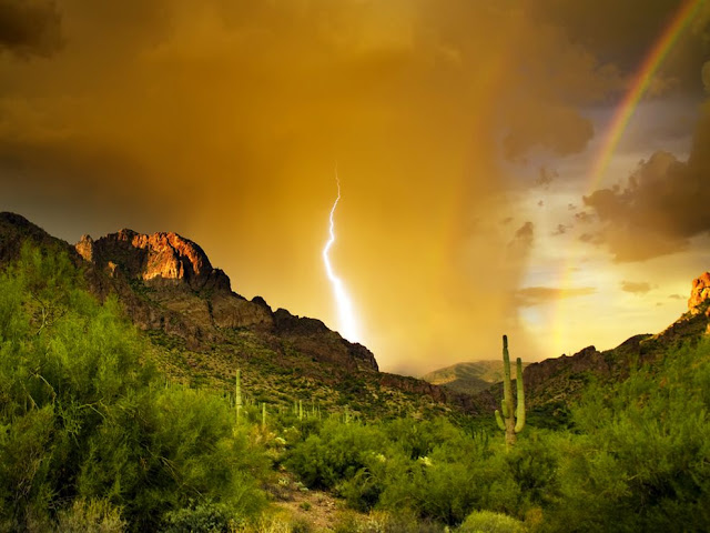 Lightning, Superstition Mountains