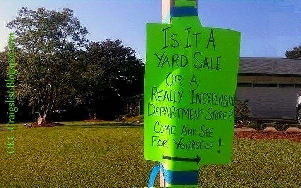 Creative Yard Sale Signs: Is it a yard sale, or..?