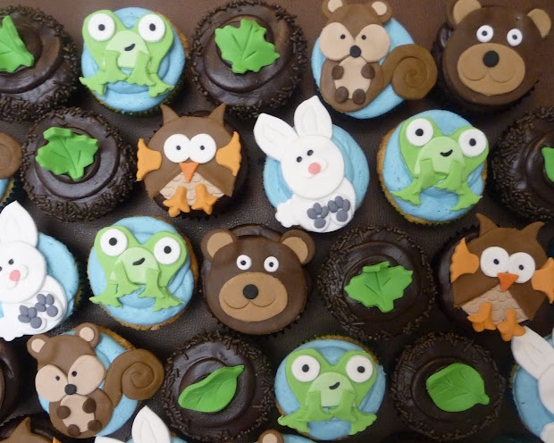 Pure Delights Baking . Woodland Animal Cupcakes
