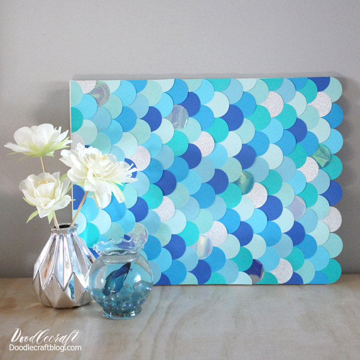 Doodlecraft: DIY: Mermaid Fish Scales Wall Art Backdrop!