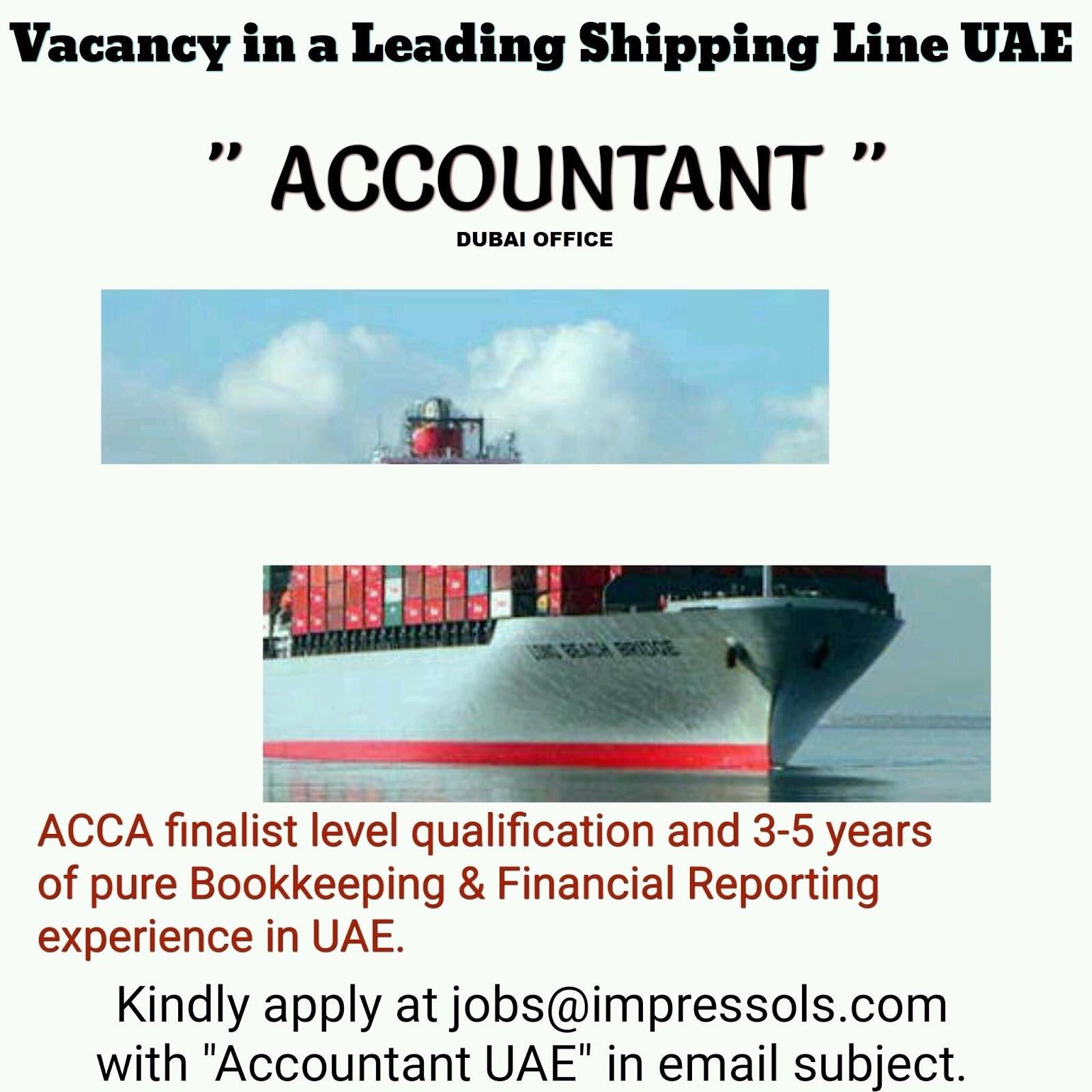 Accountant Jobs In Shipping Company In Dubai Uae Gulf Job Hunt