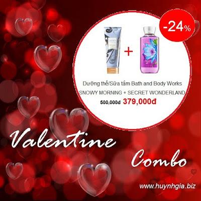 Sữa tắm Bath and Body Works khuyến mãi giảm giá Combo 3 www.huynhgia.biz