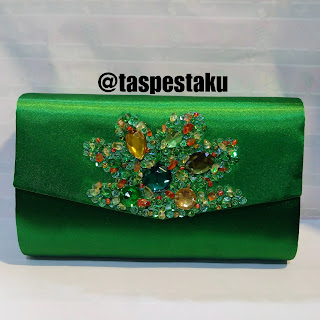 Handbag Tas Pesta Clutch Bag Hijau Botol