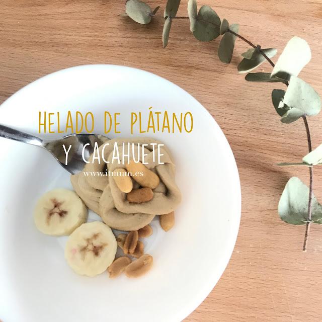HELADO DE PLÁTANO Y CACAHUETE CON BABYMOOV