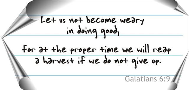 galatians 6:9 artwork