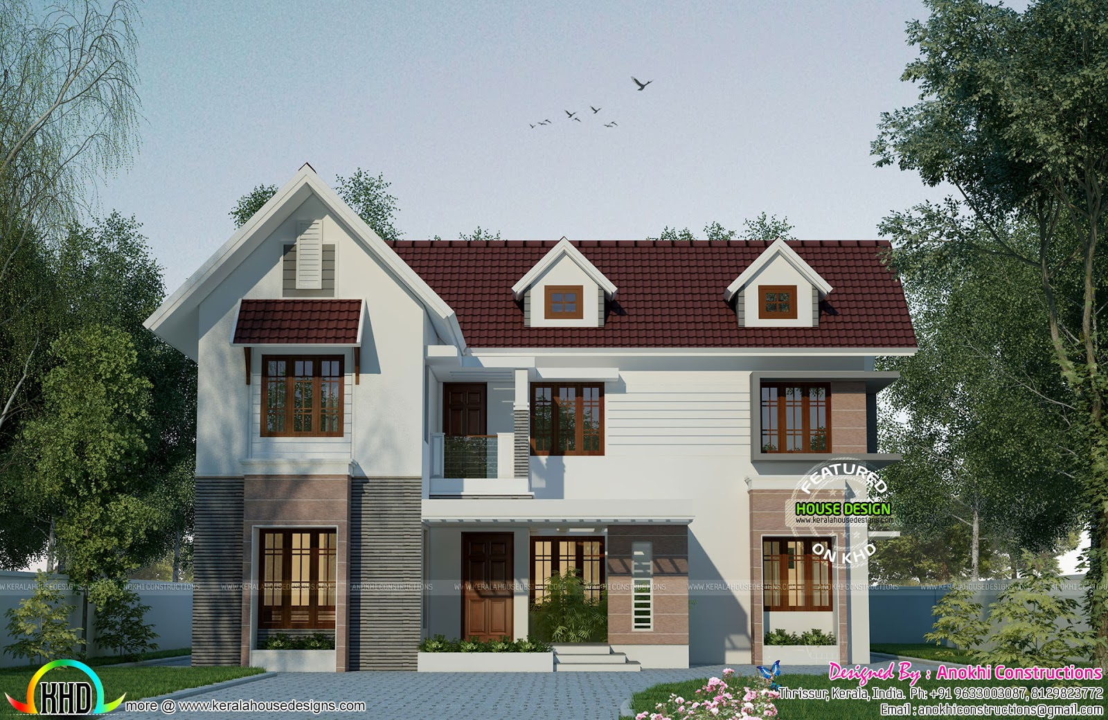 Sweet Home Design With 4 Bedrooms Kerala Home Design And Floor Plans