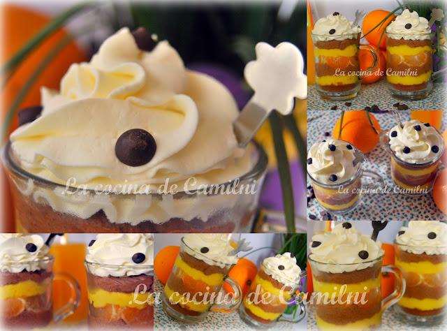 Trifle de crema pastelera de naranja y trufa (La cocina de Camilni)