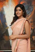 Eesha Rebba in beautiful peach saree at Darshakudu pre release ~  Exclusive Celebrities Galleries 016.JPG