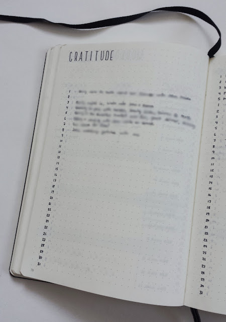 March Bullet Journal BuJo Gratitude Log Tracker Happiness