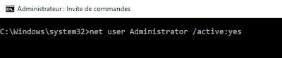 طريقة تفعيل وضع المسؤول المدير Administrateur Administrator في الويندوز