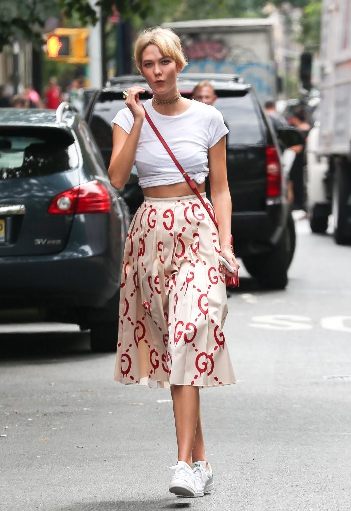 Karlie Kloss Wears Gucci Out in Soho