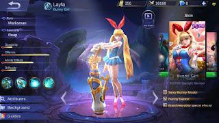 Download Script Skin Layla - Bunny Girl (Mobile Legend)