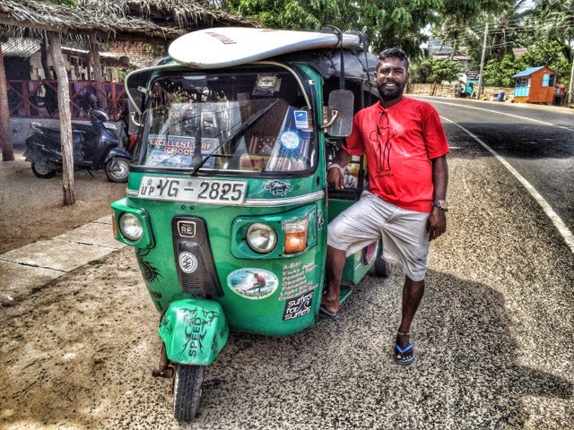 My cool tuk-tuk driver in Arugam Bay, Sri Lanka