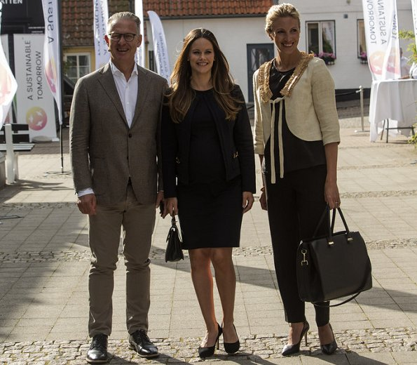 Pregnant Princess Sofia Hellqvist wearing ASOS Maternity in Maternity Dress. and wore  a Asos maternity coat