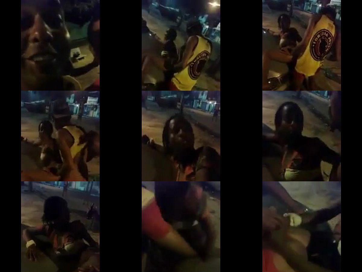 Drogada Dando no Meio da Rua para a Torcida Jovem do Sport