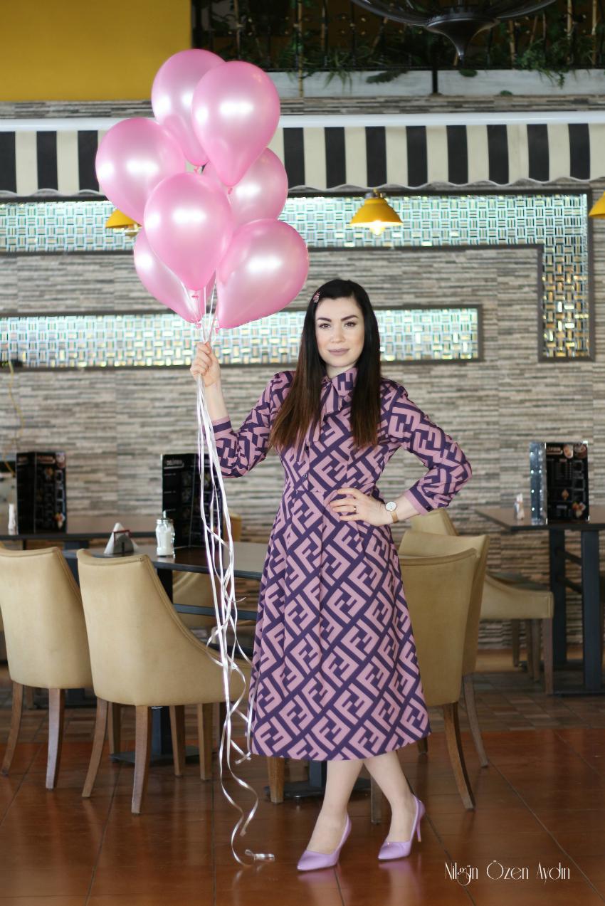 Fendi Baskılı Elbise-alışveriş-moda blogu-fashion blogger-Girlmerry