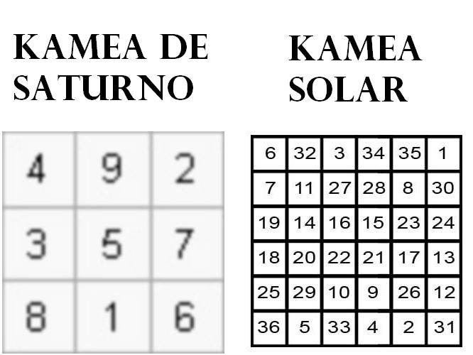 kamea solar, kamea saturno