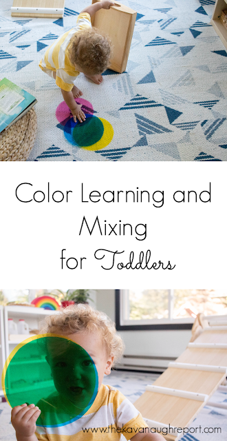 Here are some thoughts on why we don't teach or drill colors as a Montessori parent, but instead let a toddler drive the discovery. Plus an easy DIY to make that happen!