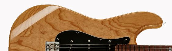 Madera de Fresno de Pantano para Guitarras con Acabado Transparente