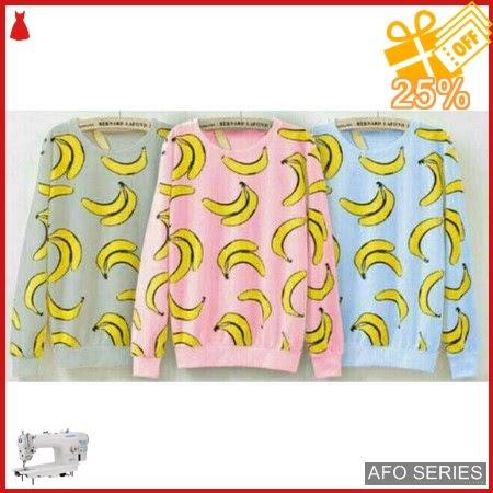 AFO064 Model Fashion Sweater Banana Modis Murah BMGShop