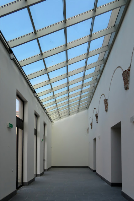 The glass roof of a corridor of the future Civic Museum, in Via dei Bottini dell'Olio, Livorno