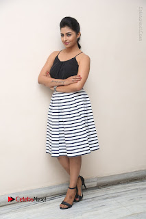 Telugu Actress Kruthika Jayakumar Stills in Short Dress at Intlo Deyyam Nakem Bhayam Success Meet  0275.JPG