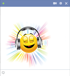 Facebook Emoticon Listening Music