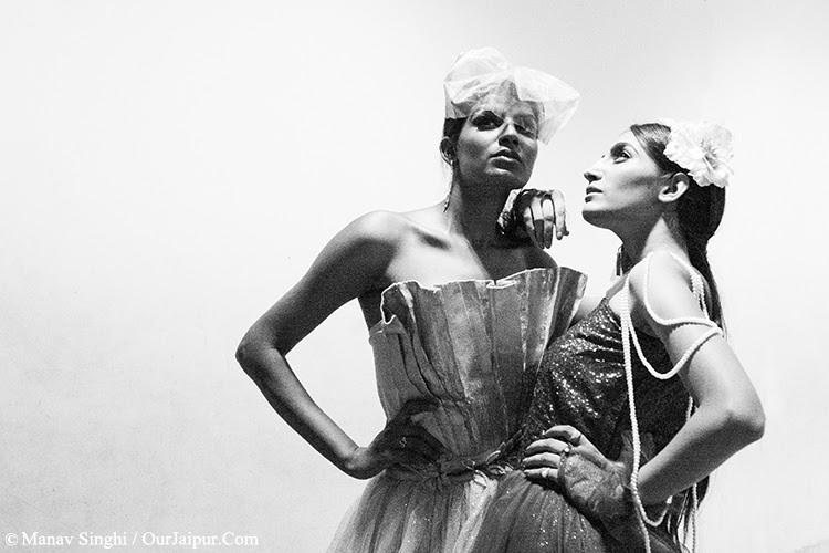 Backstage shot of Model Sangeeta Gharu and Model Monika Karwasra
