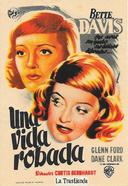 Programa de Cine - Una Vida Robada - Bette Davis - Glenn Ford