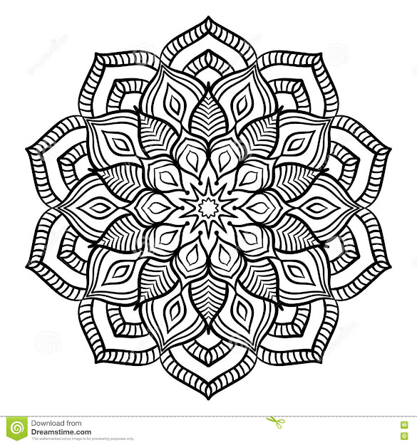 Black Mandala Coloring Page