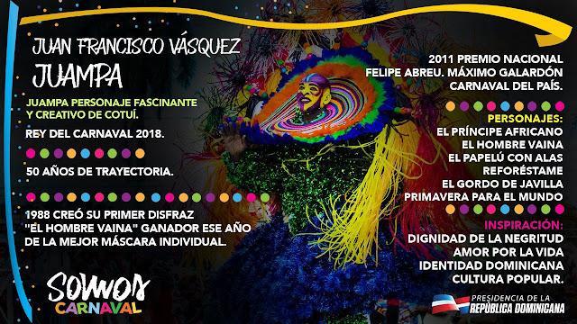 Juan Francisco Vásquez. Rey del Carnaval 2018