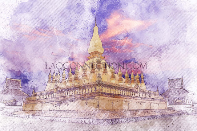 Tat Luang water colours