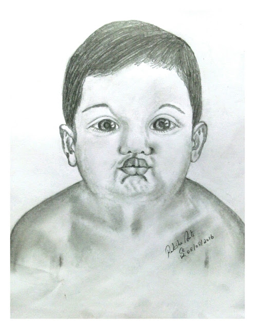 PENCIL DRAWING - BABY