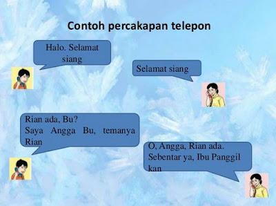 Contoh Percakapan Melalui Telepon yang Baik dan Benar