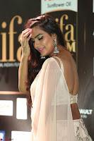 Prajna Actress in backless Cream Choli and transparent saree at IIFA Utsavam Awards 2017 0108.JPG