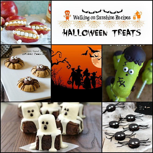 Halloween Treats that are Fun and Easy featured on Walking on Sunshine Recipes Promo Photo