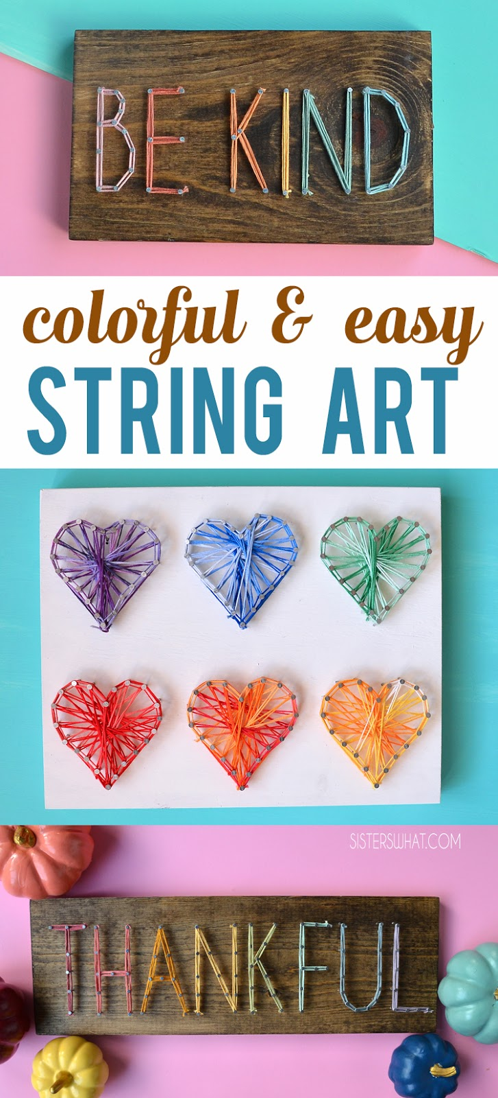 easy inspirational string art word pattern and crafty decoration